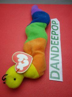 TY original Teenie Beanie Babie Inch Inch Worm 1999 McDonald's Happy Meal Stuffed Animal Toy New find me at www.dandeepop.com