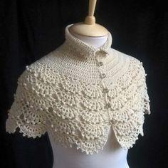 Hand knit shawl Crochet capelet Cream shawl Wedding shawl Bridal shawl Bride capelet Wool wedding bolero Wedding capelet Woolly cape – Knitting world Col Crochet, Crochet Cape, Crochet Collar, Bead Crochet, Crochet Shawl, Simply Crochet, Knitted Shawls, Crochet Scarves, Crochet Clothes