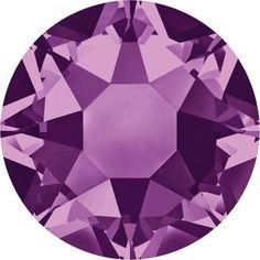 2000, 2038 & 2078 Swarovski Flatback Crystals Hotfix Amethyst SS3 (1.4mm) - Pack of 50 Bluestreak Crystals