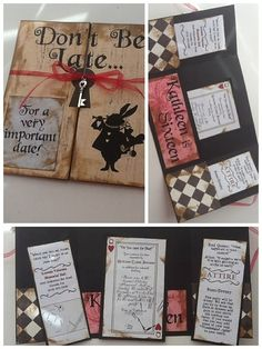 DIY Alice in wonderland party invitations