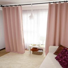 Pale Pink Blackout Curtain Drapery Panel For Living Room And Bedroom  Customized Curtains Personalized Curtains Nursery Curtains