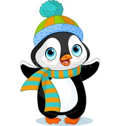 Cute winter penguin  - ilustração de vetor por Anna Velichkovsky (Dazdraperma) - Stockfresh #3703080