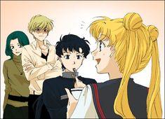 Lol Haruka is so overprotecive of Usagi sometimes. Poor Seiya is going to get his ass kicked.