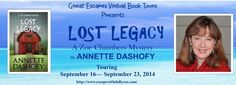 Lost Legacy by Annette Dashofy - Escape With Dollycas Into A Good Book http://www.escapewithdollycas.com/great-escapes-virtual-book-tours/books-currently-on-tour/lost-legacy-annette-dashofy/