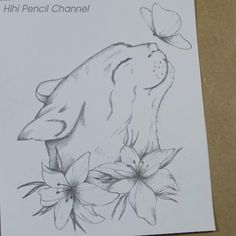 I'll show you how to draw beautiful flowers, butterfly tattoo step by step. Tattoo designs step by step, drawing for beginners. #PencilDrawing #Drawing #Pencilsketch Drawings Of Birds, Easy Flower Drawings, Pencil Drawings Of Flowers, Fairy Drawings, Dark Art Drawings, Art Drawings Sketches Simple, Pencil Art Drawings, Cute Drawings, Flower Sketch Pencil
