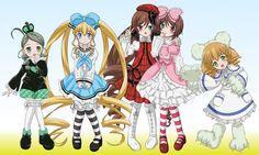 Kanaria, Shinku, Suoseiseki, Souseiseki, and Hinaichigo
