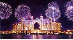 Dubai — Atlantis The Palm. Atlantis Hotel at the very tip of Palm Jumeirah Island, Dubai. Dubai Hotel, In Dubai, Dubai Uae, Dubai 2017, Dubai Resorts, Dubai Beach, Dubai City, Big Fireworks, New Years Eve Fireworks