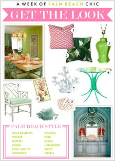 Palm Beach Chic Décor... Get the Look!