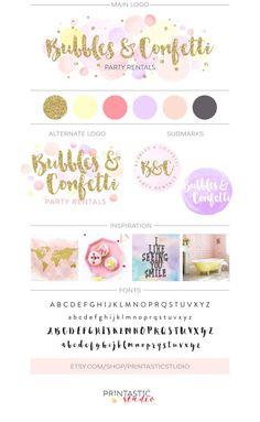 Pastel Brand Inspiration For Elizebeth Ellery // Branding, Photography and Website Design Logo Design, Design Blog, Brand Identity Design, Branding Design, Branding Your Business, Branding Kit, Business Card Design, Business Logo, Business Stationary