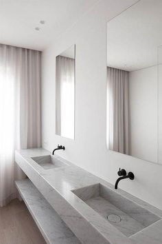 Bathroom jack and jill. Check out these jack and jill bathroom floor plans to find an arrangement that will work for you, big vanity Bathroom Sink Design, Bathroom Goals, Bathroom Styling, Bathroom Interior Design, Bathroom Vanities, Bathroom Stuff, Bathroom Ideas, Bathroom Remodeling, Bathroom Makeovers