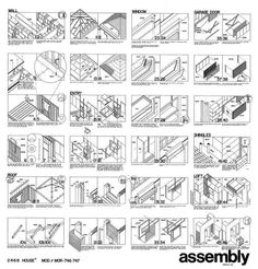 Morphosis - 2-4-6-8 House Assembly Drawing