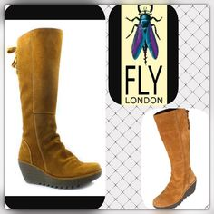 Fly London Yust Extra Wide Mustard Boots Amazing style and comfort! And the best part of these boots is that the calf width is adjustable! It will fit your legs so perfectly whether you wear them with jeans, leggings or nothing at all.  No trades. Offers welcome. Bundle 3 or more items and receive 30% off. Happy Poshing!  Fly London Shoes Winter & Rain Boots