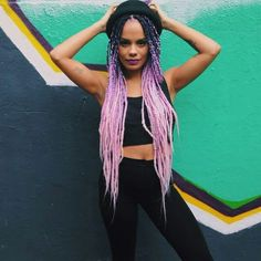 Braids Really Cool African Hairstyles Braided Hairstyles Updo, Ghana Braids Hairstyles, Afro Braids, African Braids, African Hairstyles, Hairstyle Braid, Pink Box Braids, Ombre Box Braids, Colored Box Braids