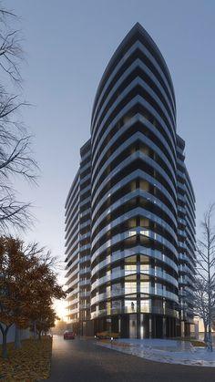 Mixed Use Development, Skyscraper, Multi Story Building, Architecture, Architecture Design