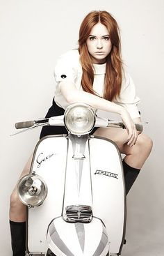 Karen Gillan. Redhead. Bangs? www.mad4bikesuk.co.uk #mad4bikesuk
