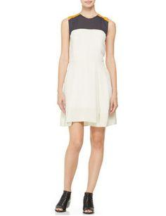 3.1 PHILLIP LIM Colorblocked Silk Dress