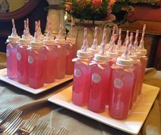 Botellas para Baby Shower