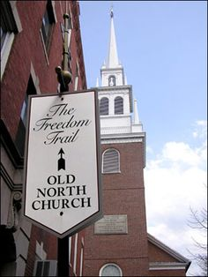 Freedom Trail - Old North Church - Boston, Massachusetts I recommend this tour, but NOT on a hot day. :)