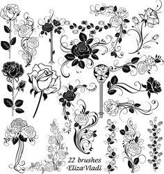 Free brushes (ABR) : Rose  by ~ElizaVladi