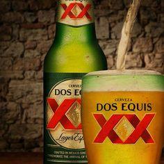 Dos Equis XX Alcoholic Drinks, Beverages, Cocktails, Hooch, Best Beer, Woodworking Tools, Beer Bottle, Draught Beer, Cocktail