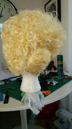 Back of fairies wig. Not a bad way to spend a rainy bank holiday.