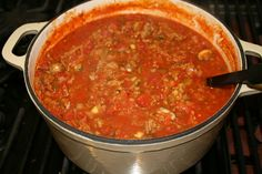 Skinny turkey and veggie pasta sauce. Make it paleo by serving it with spaghetti squash noodles