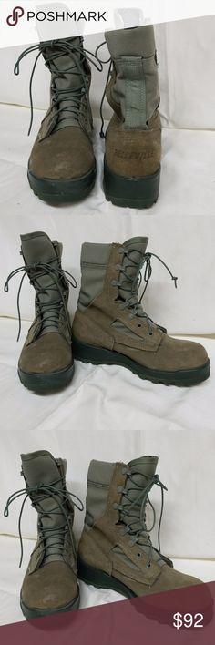 Belleville THE REAL DEAL Combat Boots Belleville Combat Boots. THE REAL DEAL COMBAT BOOTS! Used by general public, military, government, law enforcement, gortex lining, safety toe, blue/green, lace-up, vibram soles. NWOT BELLEVILLE Shoes Combat & Moto Boots