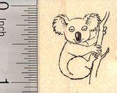 Koala Bear Rubber Stamp, Small D25109 Wood Mounted