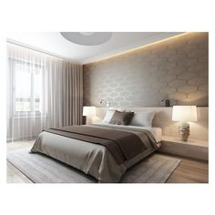 Bedroom wallpaper colour wallpapers 69 new ideas Master Bedroom Design, Home Bedroom, Modern Bedroom, Bedroom Decor, Bedroom Wallpaper Colours, Suites, Luxurious Bedrooms, Modern Interior Design, Design Case