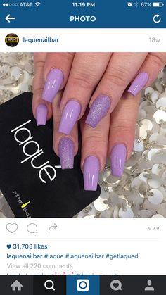 Light purple nails