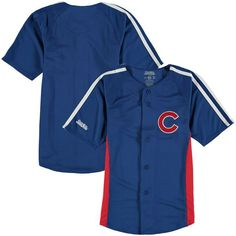 Chicago Cubs Stitches Youth Chin Music Fashion Button Jersey - Royal - $39.99