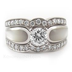 unique wedding rings for women | ... Diamond Engagement Ring - Engagement Rings - Kokopelli of NH Inc