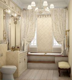 Разнообразное освещение в ванной комнате