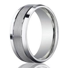 Designer 950 Platinum Men's Wedding Ring With Polished Edge | 6mm