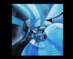"""""""Modrá"""" od autora Simmm www.artsell.cz"""