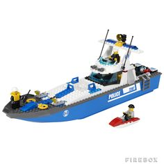 ItemName: Lego Police Boat, ItemType: Set, ItemNo: Buy and sell LEGO parts, Minifigs and sets, both new or used from the world's largest online LEGO marketplace. Kids Police, Lego City Police, Toys R Us Lego, Monster High Boys, Lego Boat, Boat Brands, Lego City Sets, Free Lego, Lego Parts