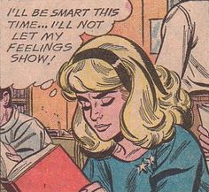 "Comic Girls Say.. ""I'll be smart this time.. I'll not let my feelings show ! #comic #popart #vintage"