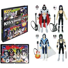 KISS Unmasked 3 3/4-Inch Action Figures Deluxe Box Set - Convention Ex