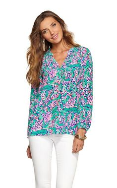 Lilly Pulitzer Resort - Elsa Top in True Blue Loves Me  Ahhh...which I would have bought this to match the girls.
