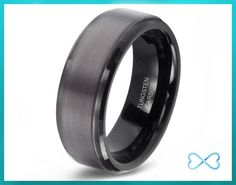 Tungsten Wedding Bands,Mens Ring,Mens Wedding Bands,Black Wedding Band,Rings,Gun Metal,8mm,Engraving,Mans,Anniversary,His Hers,Set,Size by InfiniteBands on Etsy https://www.etsy.com/listing/227091242/tungsten-wedding-bandsmens-ringmens