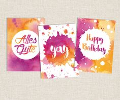 Happy Birthday Birthday Cards Greeting Cards by Monstersalat