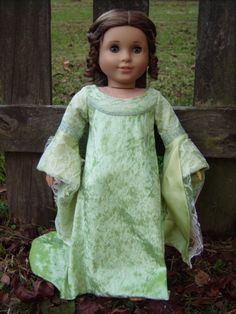 """Arwen Coronation Gown from """"Lord of the Rings: Return of the King"""" Medieval/Renaissance Costume for American Girl/Journey Girls/Carpatina 18"""" Dolls - by Morgan May @ Stardust Dolls - http://www.stardustdolls.com"""