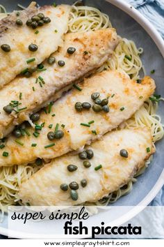 This quick and easy fish piccata recipe is one you will turn to time and again. The fish cooks in just minutes and the sauce cooks in the same pan. It's quick, it's easy and it's a real crowd pleaser. #fishpiccata #simpledinner