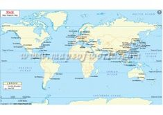 The World Sea Route Map shows the location of the world's major seaports along with the international boundaries of the world countries. The Sea Port Map is useful for sailors, shipping industries, tourist etc. The digital map is available in various edit North America Continent Map, Africa Continent Map, Asia Map, Blank World Map, Cool World Map, Usa Road Map, World Geography Map, World Political Map, World Map With Countries