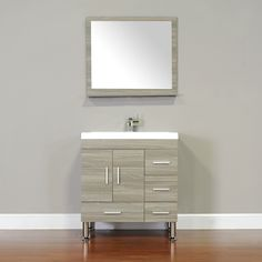 Found it at Wayfair - Ripley Single Modern Bathroom Vanity Set with Mirror Bathroom Grey, Single Bathroom Vanity, Modern Bathroom, Bathroom Vanities, Bathroom Ideas, Bath Ideas, Small Bathroom, Master Bathroom, Vanity Set With Mirror