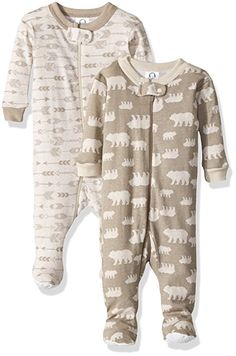 9eb2dc28f74e Gerber Baby Boys 2 Pack Footed Sleeper Bears Arrows 3 Months     You can  get additional details at the image link.