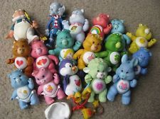 LOT OF VINTAGE CARE BEAR FIGURINES 1980's - Care Bears, Cousins & Accessories