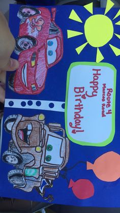 Boys birthday card had made😃