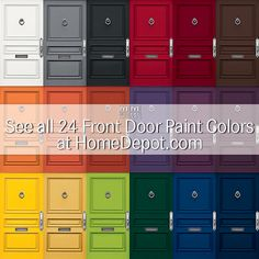 New Ideas For House Exterior Gray Modern Front Porches Gray Front Door Colors, Yellow Front Doors, Best Exterior Paint, Exterior Paint Colors For House, Painted Front Doors, Paint Colors For Home, Exterior Doors, Paint Colours, Red Doors