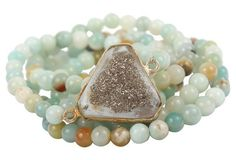 S/5 Mini Amazonite Stack Bracelets